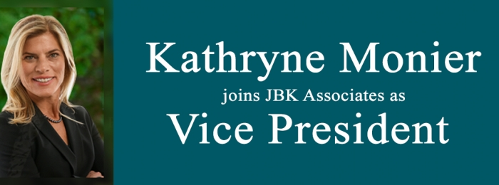 JBK ASSOCIATES INTERNATIONAL HIRES KATHRYNE MONIER AS VICE PRESIDENT